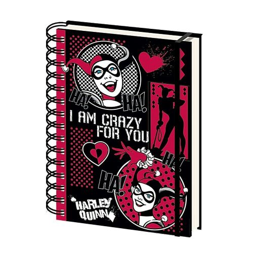 DC Comics Harley Quinn I Am Crazy For You A5 Wiro Notebook Note Pad